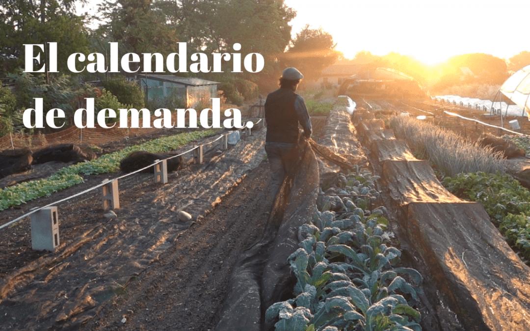 El calendario de demanda